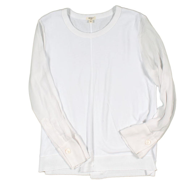 Raw Seam Raglan Sleeve Top by Dylan
