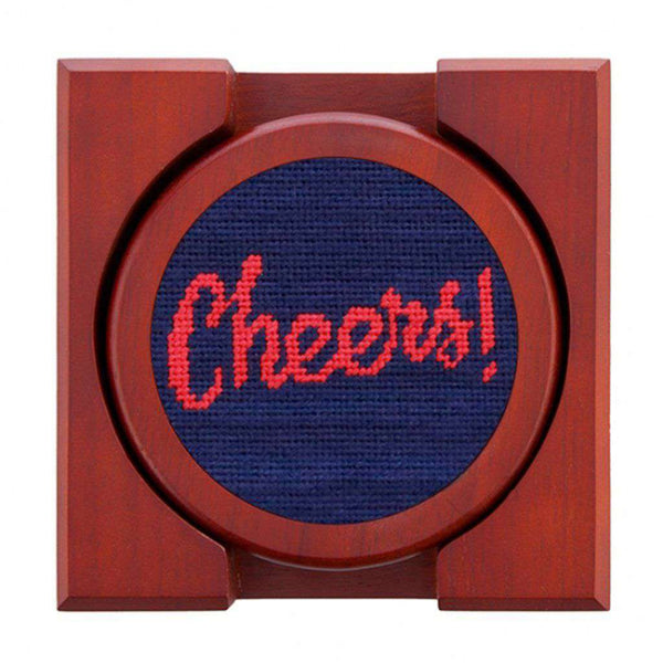 Cheers Needlepoint Coasters by Smathers & Branson