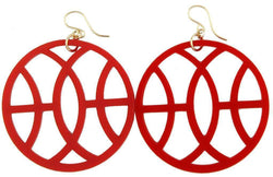 Earrings - Acrylic Galaway Earring In Ruby By Moon And Lola