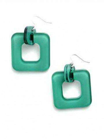 Earrings in Deep Green by Zenzii - Country Club Prep