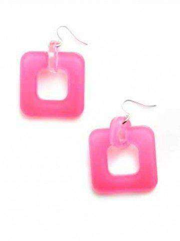 Earrings in Neon Pink by Zenzii - Country Club Prep