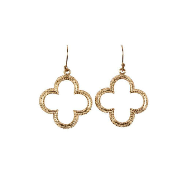 Gold Clover Earring by Caroline Hill