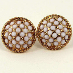 Earrings - Lyla Studs In White By Caroline Hill