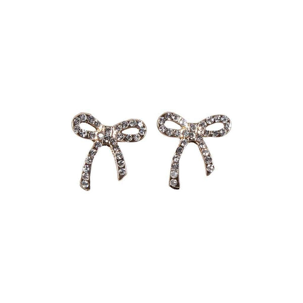 Rhinestone Bow Earring by Caroline Hill