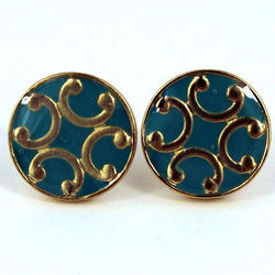 Earrings - St. Croix Studs In Turquoise By Caroline Hill