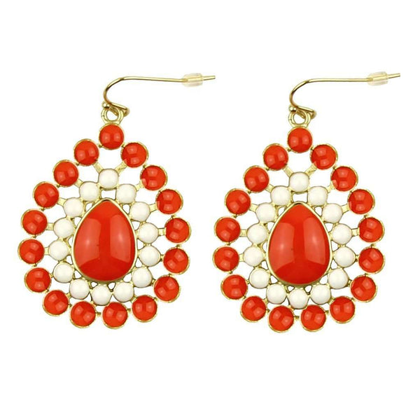 The Natalie Earring in Orange and White by Fornash