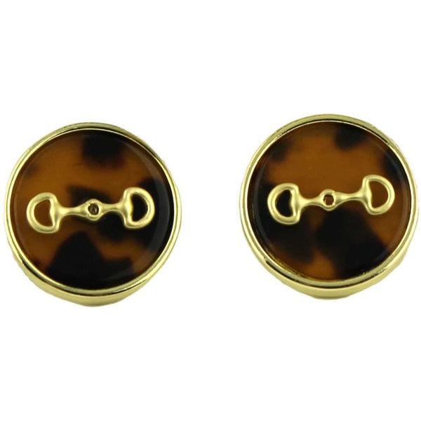 Tortoise Shell Icon Earring by Fornash