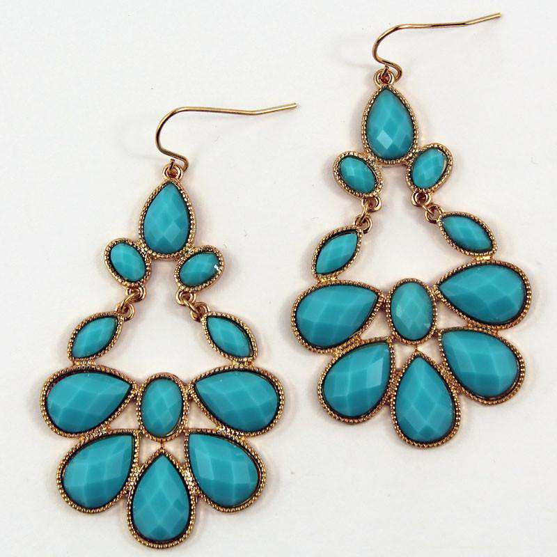 Earrings - Turkish Earring In Turquoise By Caroline Hill