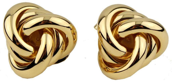 Twist Earrings in Gold by Fornash