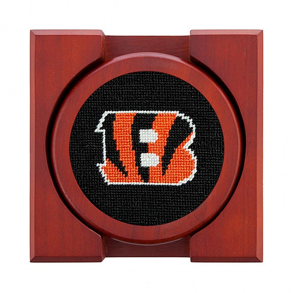 Cincinnati Bengals Needlepoint Coasters by Smathers & Branson