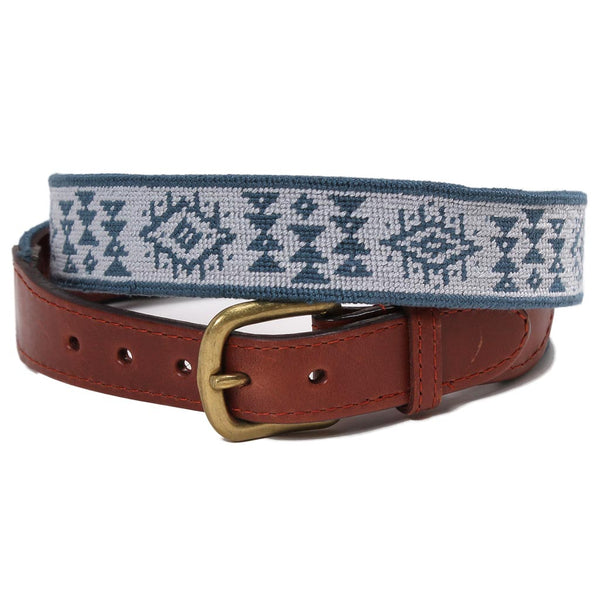 El Camino Pattern Needlepoint Belt by Smathers & Branson