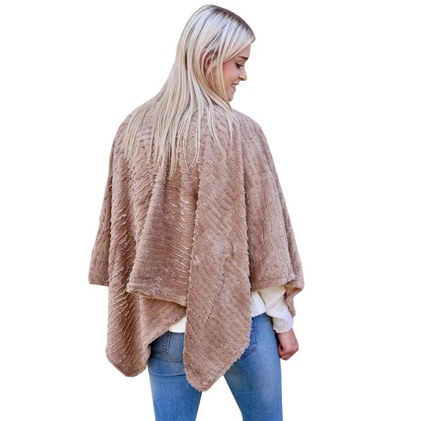 Caroline Hill Finely Faux Fur Poncho by Caroline Hill