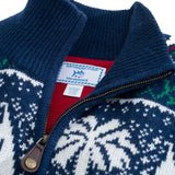 Fair Isle 1/4 Zip Pullover in Navy by Southern Tide  - 3