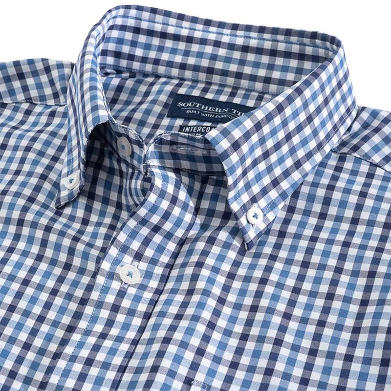 Southern Tide Fairwater Gingham Intercoastal Performance Sport Shirt by Southern Tide