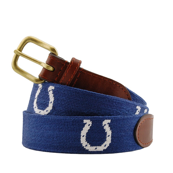 Indianapolis Colts Needlepoint Belt by Smathers & Branson