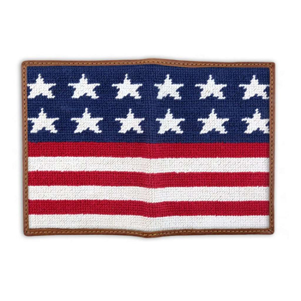 Smathers and Branson Old Glory Needlepoint Passport Case by Smathers & Branson