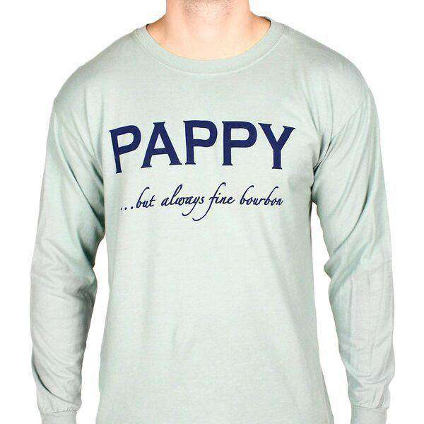 Pappy But Always Fine Bourbon Long Sleeve Tee in Grey by Pappy Van Winkle  - 1