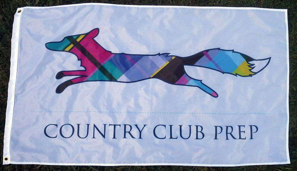 Flags & Stickers - Country Club Prep 3' X 5' Flag In White