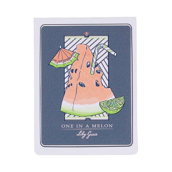 Flags & Stickers - One In A Melon Sticker By Lily Grace