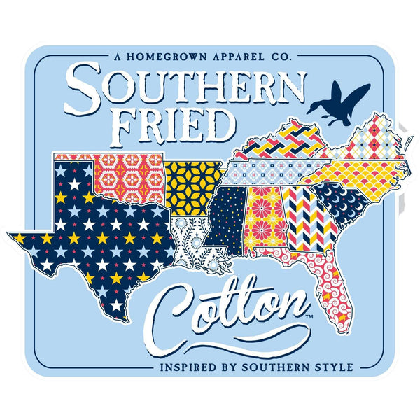 Flags & Stickers - Quilted South Sticker By Southern Fried Cotton