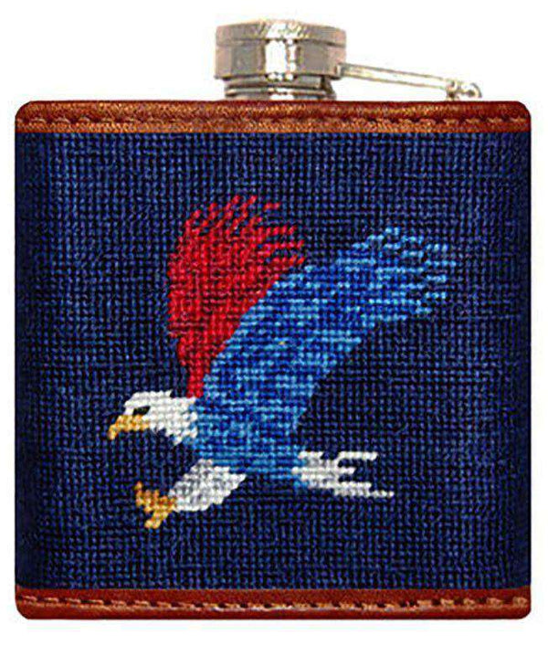 Flasks - Americana Needlepoint Flask In Navy By Smathers & Branson