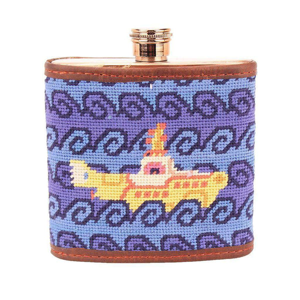 Flasks - Beneath The Waves Needlepoint Flask By Smathers & Branson
