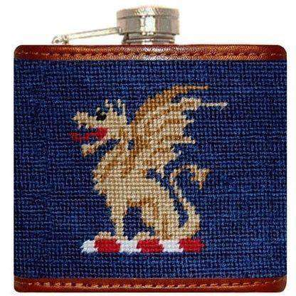 Flasks - Beta Theta Pi Needlepoint Flask In Blue By Smathers & Branson