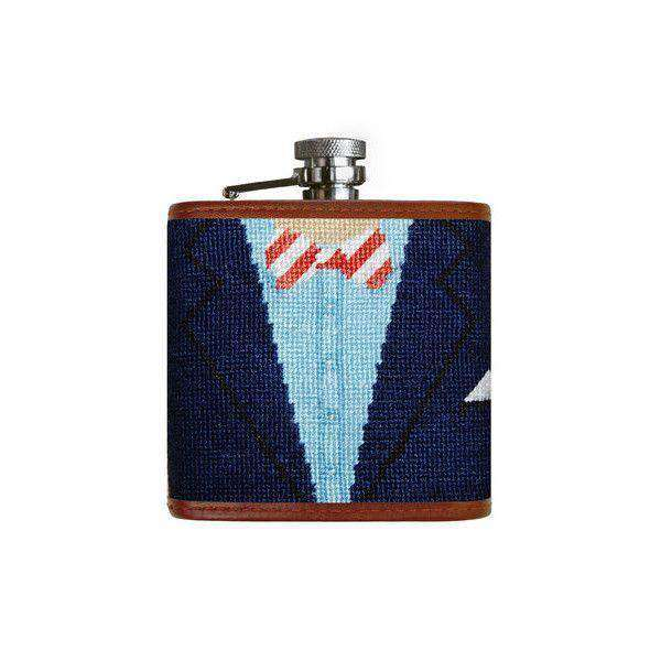 Blue Blazer Needlepoint Flask by Smathers & Branson