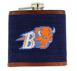Flasks - Bucknell University Needlepoint Flask In Navy By Smathers & Branson