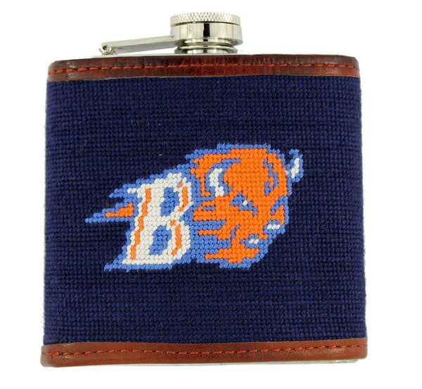 Bucknell University Needlepoint Flask in Navy by Smathers & Branson