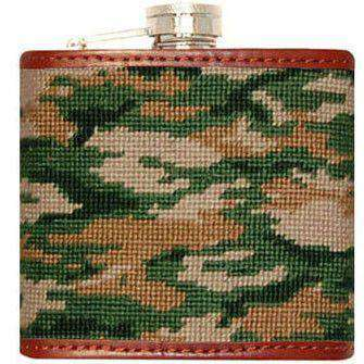 Flasks - Camo Needlepoint Flask By Smathers & Branson