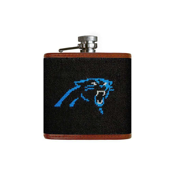Carolina Panthers Needlepoint Flask by Smathers & Branson