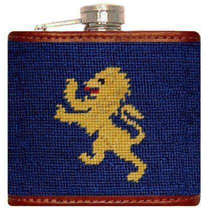 Flasks - Delta Kappa Epsilon Needlepoint Flask In Blue By Smathers & Branson