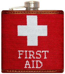 Flasks - First Aid Needlepoint Flask By Smathers & Branson