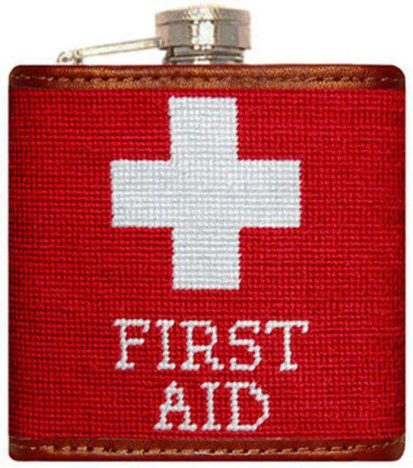 First Aid Needlepoint Flask by Smathers & Branson