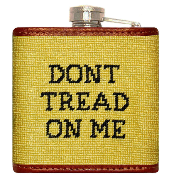 Gadsden Flag Needlepoint Flask in Yellow by Smathers & Branson