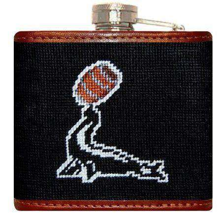 Flasks - Goslings Needlepoint Flask In Black By Smathers & Branson