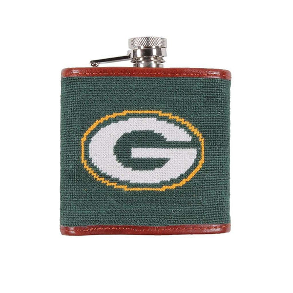 Flasks - Green Bay Packers Needlepoint Flask By Smathers & Branson