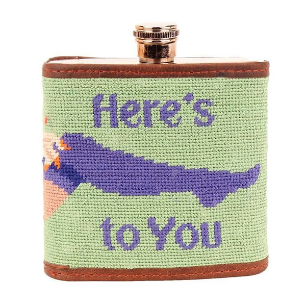 Here's To You Needlepoint Flask by Smathers & Branson