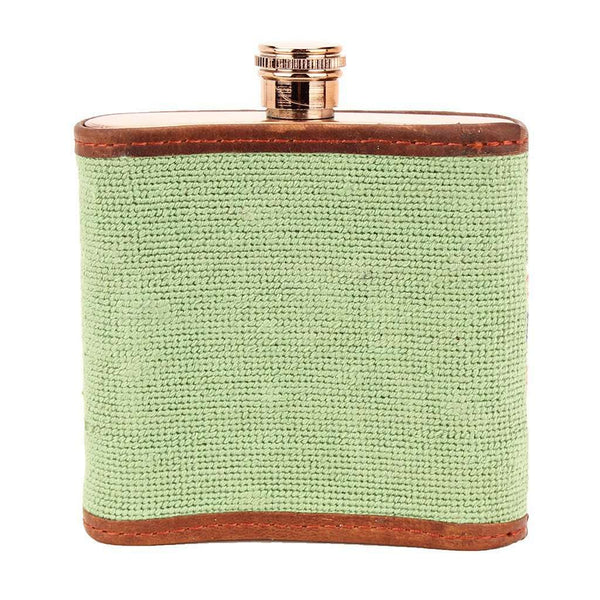 Flasks - Here's To You Needlepoint Flask By Smathers & Branson