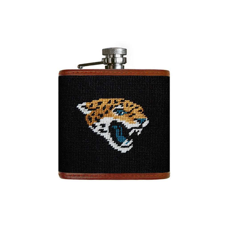 Flasks - Jacksonville Jaguars Needlepoint Flask By Smathers & Branson