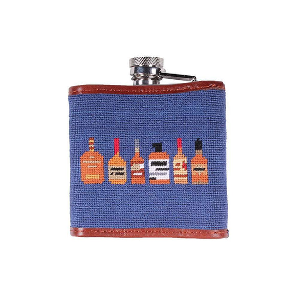 Limited Edition Race Horse and Bourbon Needlepoint Flask by Smathers & Branson
