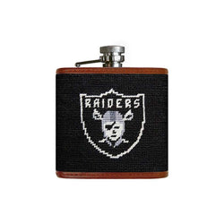 Oakland Raiders Needlepoint Flask by Smathers & Branson