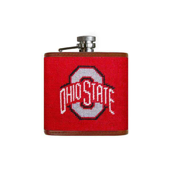 Ohio State University Needlepoint Flask in Red by Smathers & Branson