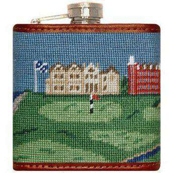 Flasks - Old Course Needlepoint Flask By Smathers & Branson