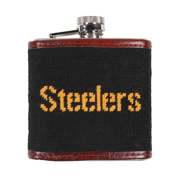 Pittsburgh Steelers Needlepoint Flask by Smathers & Branson