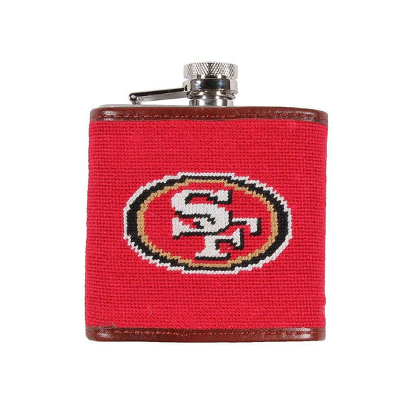 San Francisco 49ers Needlepoint Flask by Smathers & Branson