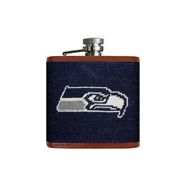 Seattle Seahawks Needlepoint Flask by Smathers & Branson
