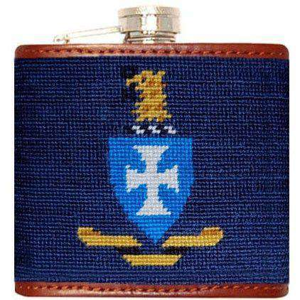 Sigma Chi Needlepoint Flask in Blue by Smathers & Branson