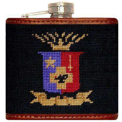 Sigma Phi Epsilon Needlepoint Flask in Black by Smathers & Branson